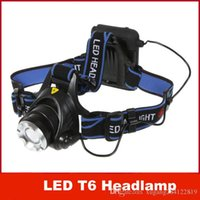 Wholesale NEW CREE XML XM L T6 LED Lumens Mode Waterproof Bike Front Light LED HeadLamp Adjust