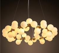 Wholesale 2016 new arrivals village style LED round glass pendant lights heads loft light fixture modo led glass pendant light