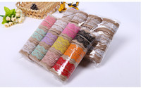 Wholesale 2M pc DIY Cotton Lace Ribbon Sewing Tape Natural Jute Hessian Roll Burlap Trims Tape Rustic Wedding Party Decor Craft HY879