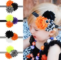 Headbands band holidays - Halloween Baby Headband Rhinestone Flower Girl Holiday Hair Band Children Hair Accessories WS001
