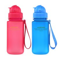 Wholesale 350ml Water Bottle With Straw BPA Free Tritan Plastic Cup For Kids School For Travel With Bottle Cap