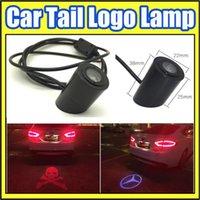 Wholesale Good Quality Car Tail LOGO Projecting Lamp Lights Auto Rear Emblem Sticker LED Laser Lighting For Skelton Head Pattern