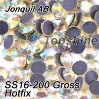 best gross - Best Quality Bulk Packing Gross SS16 Glass Material Jonquil AB DMC Hotfix Rhinestones For Garment