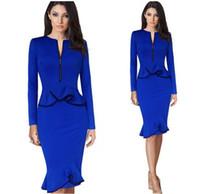 Wholesale 2016 high fashion women career dress