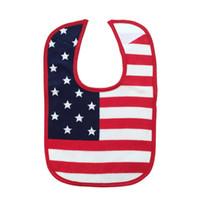 bid shipping - American Flag Star saliva towels Baby Waterproof bibs Baby Burp Cloths kids cotton Bilayer Bids