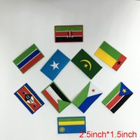 africa country flag - nation Africa countries Zambia Zimbabwe Egypt flag embroidery patch iron on sew on Guaranteed quality