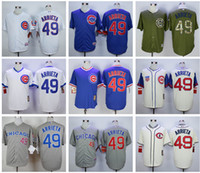 Wholesale Men s Chicago Cubs Jerseys Jake Arrieta Blue White Pinstripe Turn Back Throwback Stitched Baseball Jerseys Cheap