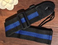 Wholesale Adjustable Durable Woven Nylon Guitar Strap with Leather Ends for Acoustic Electric Folk Guitars High Quality I