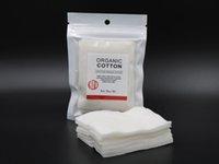 Wholesale 100 Japanese Organic Cotton koh gen do cotton pads For DIY VAPing Vape Ecigs Box Mods RBA RDA RTA RDTA Electronic cigarettes