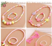 beach braclets - Baby Kids Accessories Girls Jewelry Sets Necklace Braclets Silicone Beach Wear Summer Jewelry