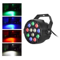 Wholesale Led Stage Par light RGBW Colors W with DMX Channels Master Slave Party Live Concert lighting
