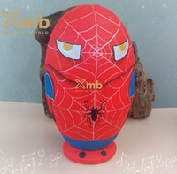 Wholesale 6pieces Spiderman Character Comic Book Superhero Russian Wooden Nesting Doll For Home Decor Christmas Gift