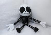Wholesale 60pcs cm Nightmare Before Christmas JACK Plush Toy Stuffed Doll Skeleton King Novelty Xmas Gift Christmas Decoration
