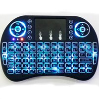 Wholesale Rii I8 Smart Fly Air Mouse Remote Backlight GHz Wireless Bluetooth Keyboard Remote Control Touchpad For Android Box MX3 M8S White Black