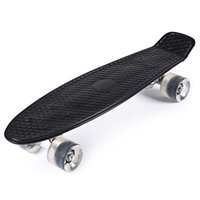 banana board wheels - 5 Colors Inches Mini Cruiser Banana Style Longboard Pastel Color Fish Skateboard with LED Flashing Wheels