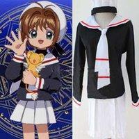 anime moka - Fashion Students Uniform Cosplay Moka Girlsm Clothes Slim Summer Clothes Hat Skirt Top Clothes ZXS uniform
