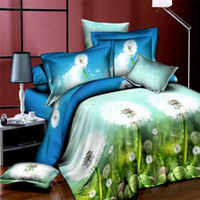 aqua hand cream - Fancy Dandelion D Printed Pieces Bedding Sets Duvet Cover Sets Duvet Cover Bed Sheet Pillow Case