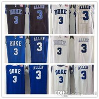acc sales - 2015 Newest Grayson Allen Jersey Duke Blue Devils College Basketball Jersey Black White ACC Stitched Quality Hot Sale