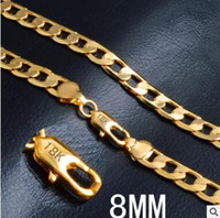 Wholesale freeshipping piece mm inch piece women s K gold necklace imitation gold necklace women Korean gold plated locket necklace