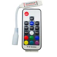 Wholesale Mini RF Wireless led controller W KEY Led Remote Controller Led Dimmer Controller For RGB Light Strip