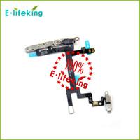 Piezas metálicas Baratos-Para el iPhone 5 Botón de encendido Interruptor Flex Cable con el botón del metal Móvil pieza de recambio de envío rápido