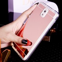 Wholesale Plating Mirror Soft TPU Back Case Cover For iPhone S S S Plus Ca Samsung Galaxy Note3 S3 S4 S5 S6 S7 Edge Plus Phone Case