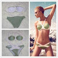 amazing swimsuit - The new European and American hit color bikini swimsuit steel prop gather bikini amazing factory direct SBK229 swimwear for women hot sale