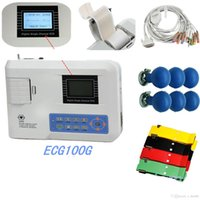 Wholesale Single Channel ECG Heart Rate Monitor ECG100G ECG Holter with LCD Display ECG EKG Systems Electrocardiograph Systems Holter