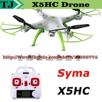 Wholesale SYMA X5HC CH GHz Axis RC Quadcopter Drone With MP HD Camera Automatic Air Pressure High Headless Mode X5C Updated