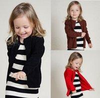 Wholesale LJJG135 Children Fashion Sweater Kids Ins Long Sleeved Knit Cardigan European America Baby boys girls Outerwear Crochet Knitwear Coat