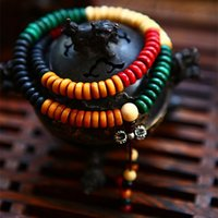 abacus shipping - Natural Abacus Beads Colored Bodhi fruit Tibetan Evil exorcising Pestle Fortune bringing Multi turn Bracelet