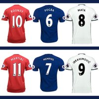 Wholesale Top Thailand Quality short sleeve Jersey MancHester soccer Jerseys home away UnITED Ibrahimovic POGBA Football shirts