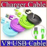 Wholesale NEW Micro USB Cable Sync Data Charging m m m Cord Flat Woven Fabric Dual Colors for Samsung Galaxy S3 S4 S5 HTC Blackberry A SJ
