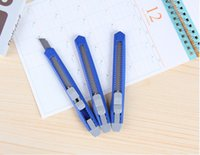 Wholesale Small Utility Knife Paper Cutter Cutting Paper Razor Blade Office Stationery School Supply Color Random