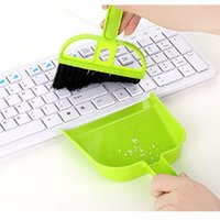 Wholesale 2pcs set Mini Desktop Cleaning Brush Keyboard Brushes Computer Brush Dustpan Small Broom Set WA0749