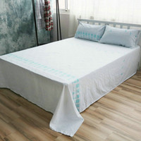 Wholesale Cotton Bed Linen Custom Size fish Sheet Sets Cotton Flat Sheet Queen Fitted Sheet Twin Case Beddig Sets
