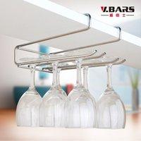 beer glass holder - Modern Stainless Steel hanging wine glass holder cup holder beer bar wine rack wine glasses holder fashion cup holder for wine