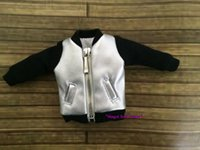 Wholesale MG174 Hot Sale Neoblythe Outfits Sliver Pleather Jackwet for quot Neoblythe doll clothes for retail