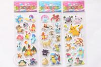 baby gifts flash - Poke Go Sticker Pikachu Flash D Foam Cartoon Toys Fashion Gift For Children Baby Reward cartoon anime Decoration OOA603