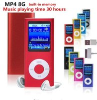Wholesale High quality battery mp4 player gb Colors for choose Music playing time hours FM radio video player