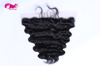 Wholesale 100 Unprocessed Brazilian Hair body wave X4 Lace Frontal Free Style b color lace front by DHL