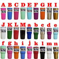 Wholesale 30oz YETI Rambler Tumbler Cup Color Purple Pink Blue Light Blue Orange Light Green Bilayer Vacuum Insulation Cup Tumbler Mug