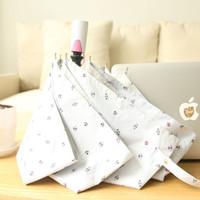 adult rain gear - Fully Automatic Umbrella Three Folding Women s UV Protection Umbrellas Rain Gear
