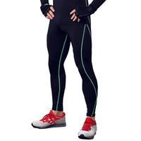 Para hombre mayor-caliente de compresión pantalones deportivos Correr Deportes Capas base de entrenamiento de la piel Medias de secado rápido