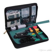 Wholesale 11 in Professional Network Computer Maintenance Repair Tool Kit Cross Flat Screwdriver Crimping Pliers etc