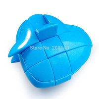 big brain toys - YJ YongJun x3 Heart Plastic Magic Cube Blue Hot Selling Brain Teaser Twisty Puzzle Toy for Children and Adult