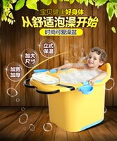barrel hot tubs - 2016 Hot slae Baby tubs baby bath tub children s bathtub thickening large bath barrel