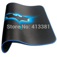 Wholesale New Blue Bat Gaming Mouse Pad Locked Edge X10 Inch lock head mouse glue mouse glue