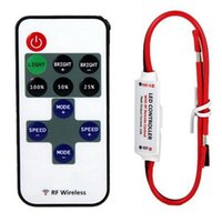 Wholesale 12V RF Wireless Remote Switch Controller Dimmer for Mini LED Strip Light New