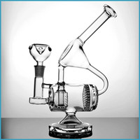Wholesale Glass bongs water pipes heady recycler oil rigs dab bowl turbine percolator honeycomb inline ash catcher mm female hookahs